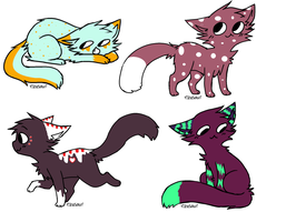 Adoptable Kittens by ImaginingJays