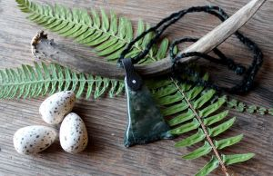 Tumbled Moss Agate Necklace by lupagreenwolf