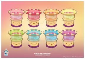 Kawaii Fruit Punch Group by KawaiiUniverseStudio