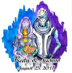 Wedding commission cards for Katy and Jason 2018 by Shaya-Fury