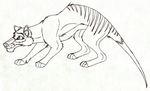 Disney-styled Thylacine by Child-Of-Hades