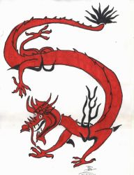 Traditional chinese dragon by PunkRoXanne