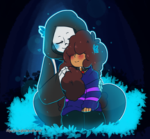 Altertale: Sans x Frisk by Geeflakes-art