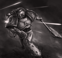 Kharn, 8th Captain of the World Eaters by Bra1nEater