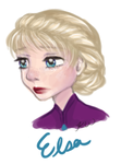 Elsa Speed drawing by Rythea