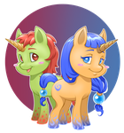 Mlp new generation - flame and water by CristianoReina