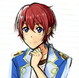 Tsukasa Suou but with Love Live's artstyle by DibbleDabble4u