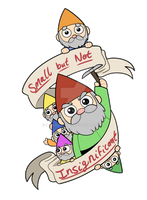 Motivational Lawn Gnomes by itsaaudraw