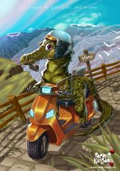 a Crocodile on a Scooter by pangketepang