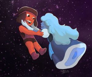 Steven Universe Ruby and Sapphire by Tobuchi