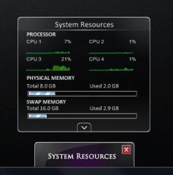MODDED CPU-Meter 4 CPUs by JendrixXx