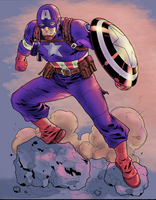 WWII Captain America by NimeshMorarji