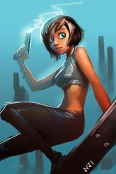 action girl by njay