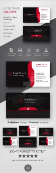 Corporate Creative Business Card by Hasyemi12
