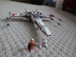 Lego Star Wars X-wing by andyjshi