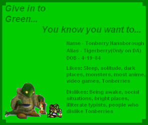 Oh-So Green ID by tigerberry