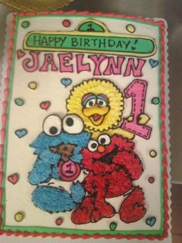 Elmo Cookie Monster and Big Bird by happybunny666