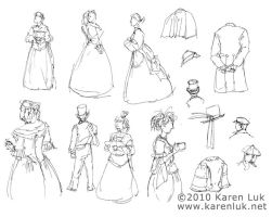 Dickens Faire sketches 1 by karenluk