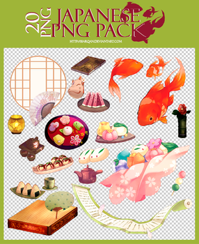 Japanese png pack | 20 png by 18arqan