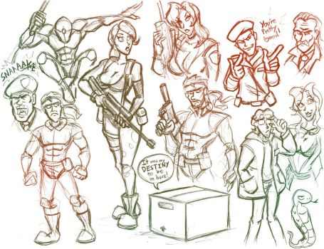 MGS Doodles by hooksnfangs