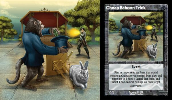 Cheap Baboon Trick Card by castortroy3497