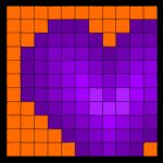 I heart orange and purple by Airavel
