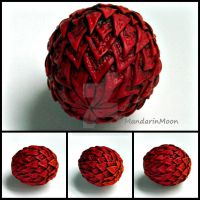 Fire Dragon Egg Polymer Clay by MandarinMoon