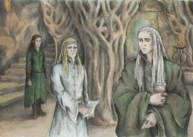 Thranduil and Legolas by AnotherStranger-Me