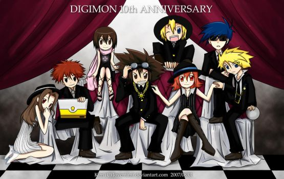 Digimon 10th Anniversary by JinZhan