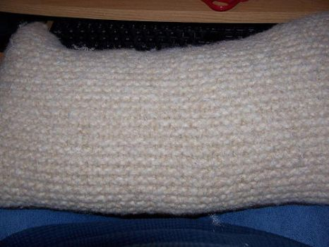 Felted Pillow by cherith
