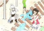 Round 2 - Chiyuki vs Konsu by petit-fluffy-wolf