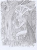 Prayer To The Forest Gods by dracontologe
