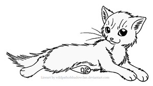 Longhaired Warrior F Lineart by WildpathOfShadowClan