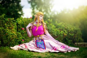 Ocarina of Time - Princess Zelda Cosplay by TineMarieRiis