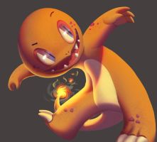 One face a day #78/365. Charmander (pokemon) by Dylean