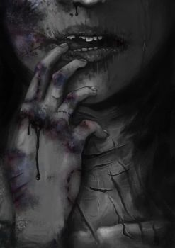 The Abusive Relationship with Myself by paintausea