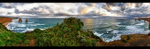 Twelve Apostles Panorama by WiDoWm4k3r