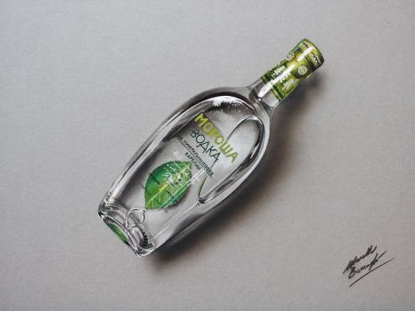Bottle of Morosha Spring DRAWING by marcellobarenghi