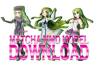 MMD Matcha Model Download (V.1.1) by Pikadude31451