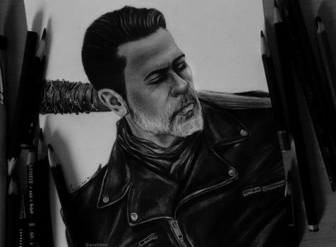 Negan (Jeffrey Dean Morgan), The Walking Dead by anabdero