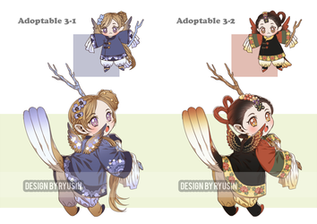 2018 Adoptable 3 Auction [CLOSE] by ryusin