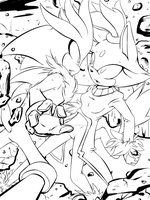 Caught in a Moment-Lineart by Fly-Sky-High