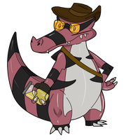 TF2 Pokemon - Sniper Krookodile by Jestermation