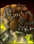 Commission - TANG VS BEAR TANK by AlmightyRayzilla