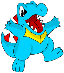 Totodile : Digital by Zehdils