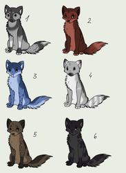 Canine adoptables CLOSED by PirateLila