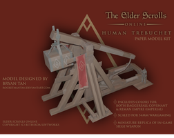 Elder Scrolls Online - Trebuchet Paper Model Kit by RocketmanTan