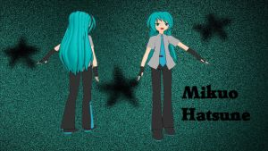Long Haired Mikuo DL MMD by Sephikuji