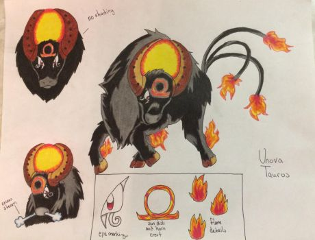Unova Tauros (Contest Submission) by LatteLady17