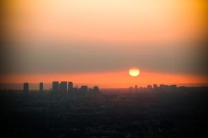 Sunset over Los Angeles by richardxthripp